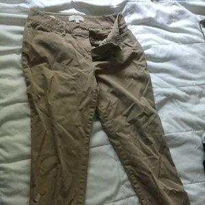 Talbots curvy fit stretch cotton chinos pants